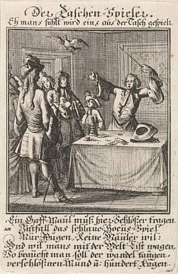 Conjurers Drawing - Magician, Caspar Luyken, Anonymous by Caspar Luyken And Anonymous