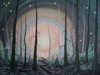 Painting - Magicle Forest by Krystyna Spink