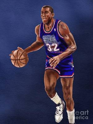 Magic Johnson Digital Art - Magic's Return by Jeremy Nash