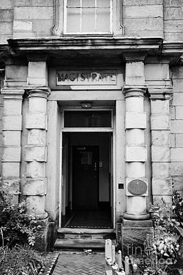 Magistrates Entrance Ormskirk Magistrates Court Lancashire England Uk Art Print by Joe Fox