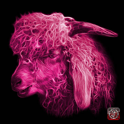 Digital Art - Magneta Angora Goat - 0073 F by James Ahn