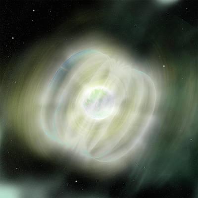Magnetar In Space Art Print by Nasa/swift/sonoma State University/a. Simonnet