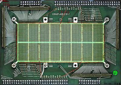 Ic Photograph - Magnetic-core Memory Of Siemens Computer by Pasieka