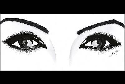 Painting - Magnetic Eyes by Saki Art