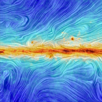 Deep Sky Photograph - Magnetic Field Along The Galactic Plane by Science Source