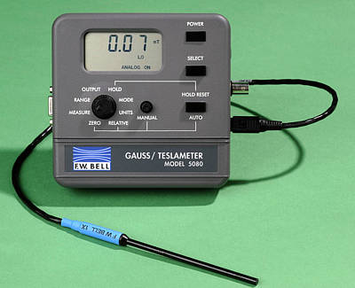 Electronics Photograph - Magnetic Field Strength Meter by Public Health England