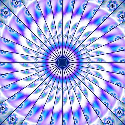 Drawing - Magnetic Fluid Harmony Kaleidoscope by Derek Gedney