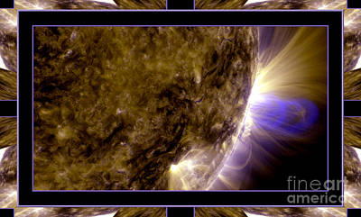 Photograph - Magnetic Loops On The Sun With Self Frame by Rose Santuci-Sofranko