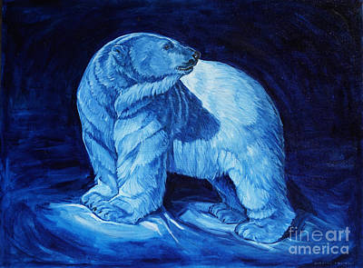 Painting - Polar Bear Art Blue Prince Lord Of The North by Christine Montague