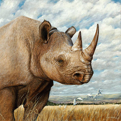 Rhino Painting - Magnificence by Dreyer Wildlife Print Collections