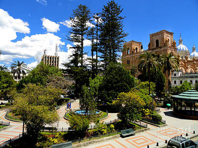 Immaculate Photograph - Magnificent Center Of Cuenca Ecuador by Al Bourassa