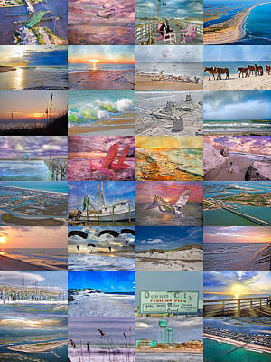 Montage Photograph - Magnificent Coastal North Carolina by Betsy Knapp