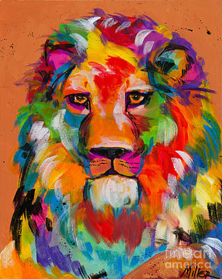 Magnificent Lion  Original by Tracy Miller