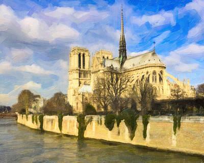 Photograph - Magnificent Notre Dame De Paris by Mark E Tisdale