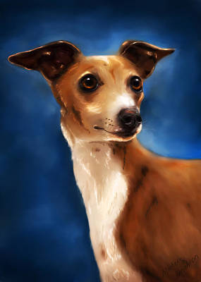 Greyhound Painting - Magnifico - Italian Greyhound by Michelle Wrighton