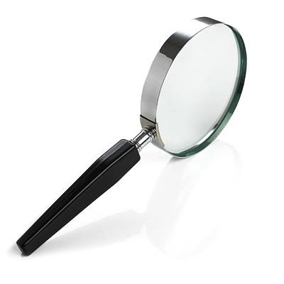 Scrutiny Photograph - Magnifying Glass by Science Photo Library