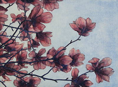 Painting - Magnolia by Andrew Danielsen