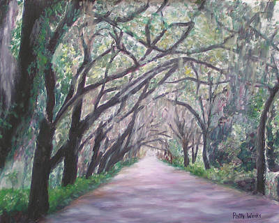 Of St. Augustine Painting - Magnolia Avenue by Patty Weeks
