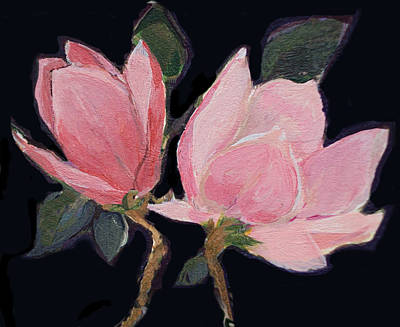 Painting - Magnolia Blossoms by Diane Ursin