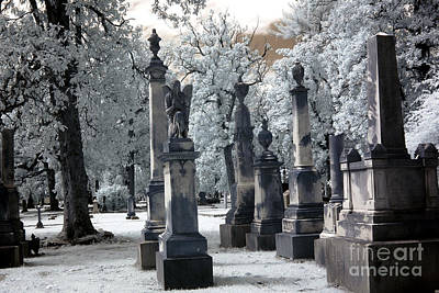 Magnolia Cemetery - Augusta Georgia - Confederate Military Graveyard  Art Print by Kathy Fornal