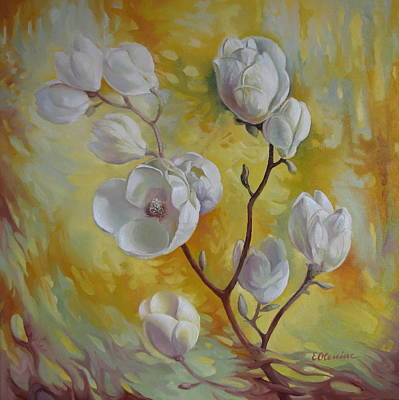 Magnolia Blossom Painting - Magnolia by Elena Oleniuc