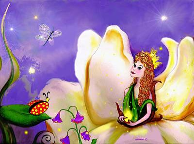 Magnolia Fairy Princess Art Print
