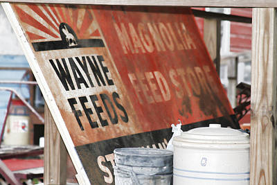 Digital Art - Magnolia Feed Store Sign by Audreen Gieger