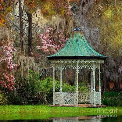 Photograph - Magnolia Garden Throw Pillow by Kathy Baccari