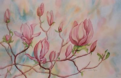 Gallup Painting - Magnolia by Heather Gallup