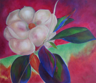 Magnolia I Art Print by Susan Hanlon