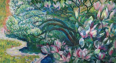 Magnolia In Ordrupgaard Original by Olga Sorokina