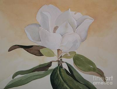 Art Print featuring the painting Magnolia Morning by Nancy Kane Chapman