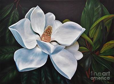 Art Print featuring the painting Magnolia by Paula L