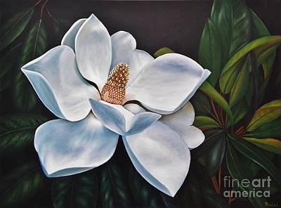 Painting - Magnolia by Paula Ludovino
