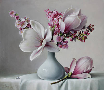 Painting - Magnolia by Pieter Wagemans