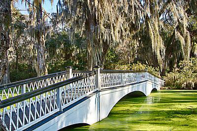 Photograph - Magnolia Plantation Bridge by Bill Barber