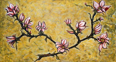 Painting - Magnolia by Rae Chichilnitsky