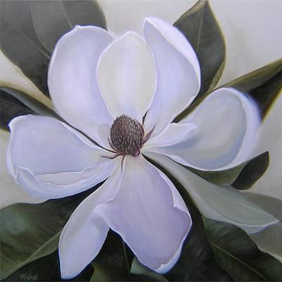 Magnolia Square Art Print
