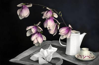 Magnolia Still Art Print by Diana Angstadt