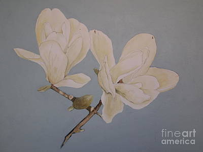 Art Print featuring the painting Magnolia Sun Ray by Nancy Kane Chapman