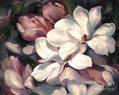 Magnolia Symphony Art Print by Laurie Hein