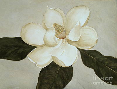 Art Print featuring the painting Magnolia Wave by Nancy Kane Chapman