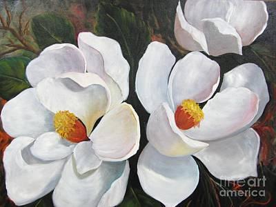 Painting - Magnolias by Barbara Haviland
