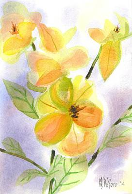 Magnolias Gentle Art Print by Kip DeVore