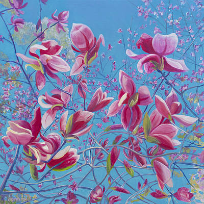 Painting - Magnolias by Rebecca Gottesman