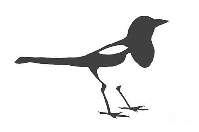 Magpies Digital Art - Magpie by Declan Leddy