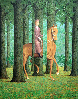 Magritte's The Blank Signature Art Print by Cora Wandel