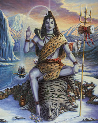 Painting - Mahadeva Shiva by Vishnudas Art