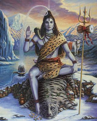 Mahadeva Shiva Art Print