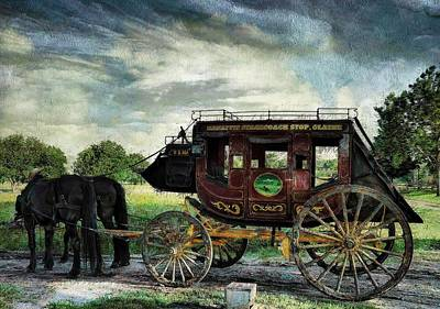 Photograph - Mahaffie Stagecoach Olathe by Liane Wright